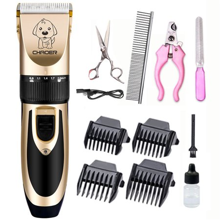 Low Noise Rechargeable Cordless Cat and Dog Clippers Professional Pet Clippers Grooming Kit Animal Clippers Pet Grooming