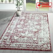 A2Z Santorini 6076 Vintage Traditional Extra Soft Bedroom Area Rug Tapis Carpet (3x5 4x6 5x7 5x8 7x9 8x10)