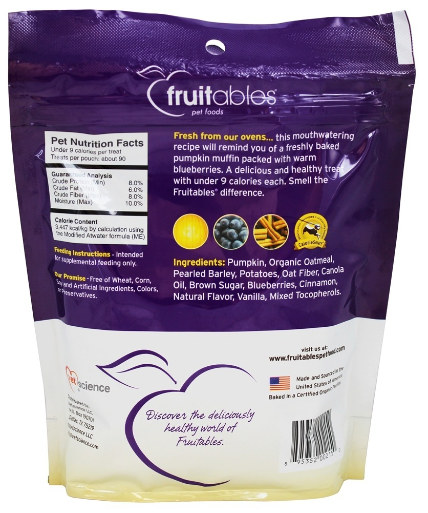 Fruitables Crunchy Pumpkin Blueberry Dog Treat, 7 oz by Fruitables
