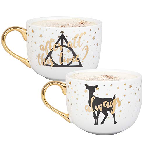 - Harry Potter Latte Coffee Mug Set - After All This Time, Always - Cute Pinache Design - 16 oz