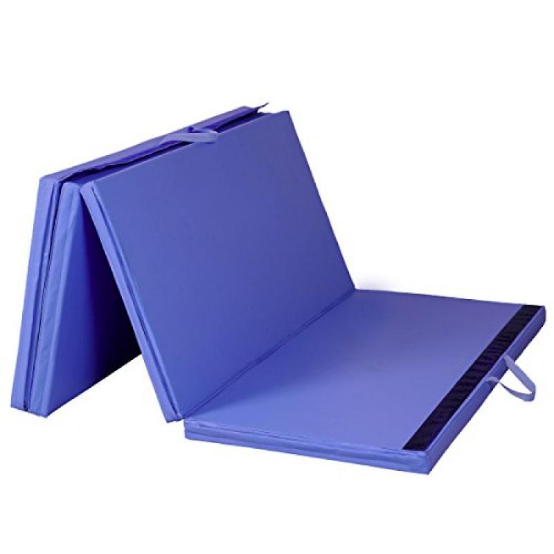 "Mat Expert Blue 4'x8'x2"" Thick Folding Panel Gymnastics M..."