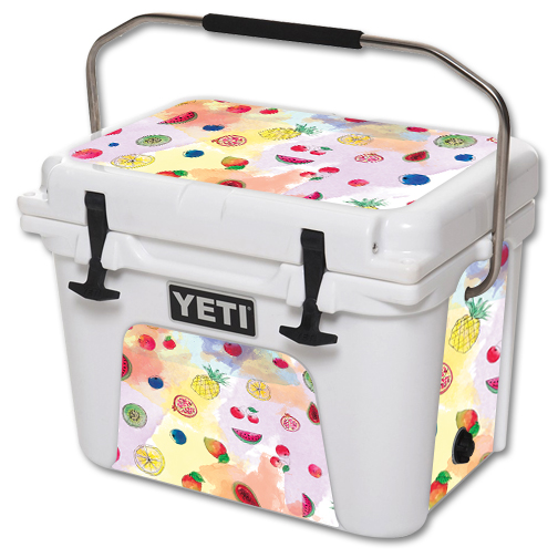 MightySkins Protective Vinyl Skin Decal for YETI Roadie 20 qt Cooler wrap cover sticker skins Fruit Water