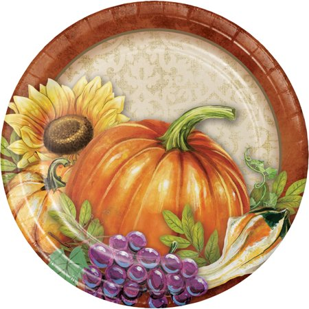 Harvest Thanksgiving Dessert Plates, 24 count for $<!---->