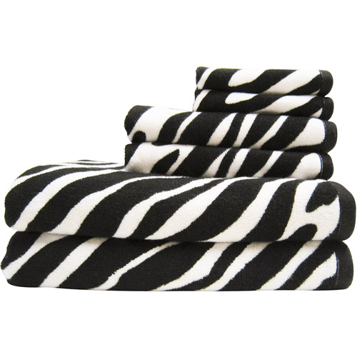 Your Zone 6-Piece Bath Towel Set, Zebra