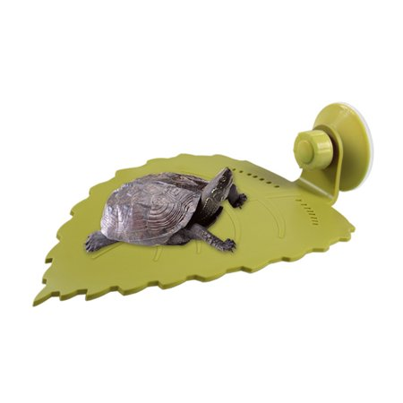 Sucker Type Artificial Leaves Pet Habitat Decor for Lizard Frogs Snakes Tortoise and More