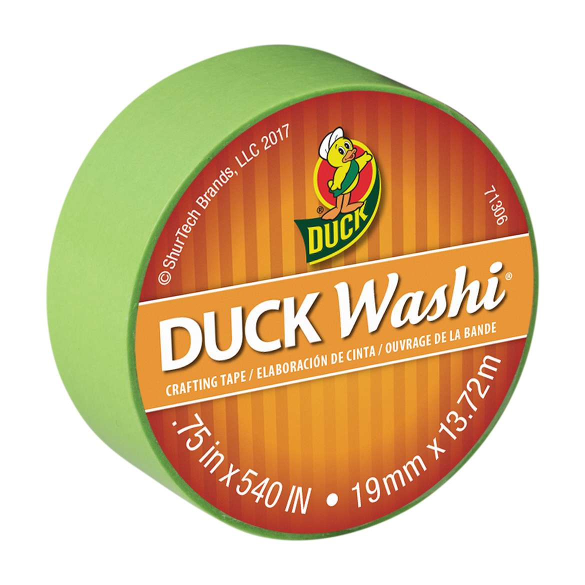 """Duck Brand Washi Crafting Tape, 0.75"""" x 15 yards, Lime"""