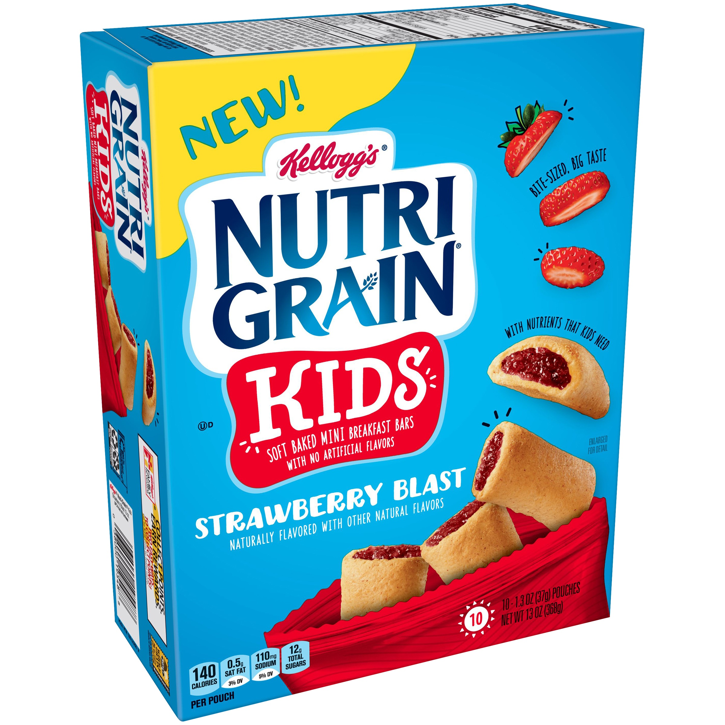 Kellogg's Nutri Grain Strawberry Bites Kids Mini Breakfast