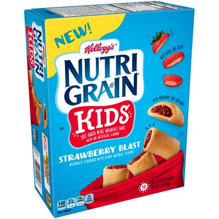 Kellogg's Nutri Grain Strawberry Bites Kids Mini Breakfast Bars 13 Oz 10