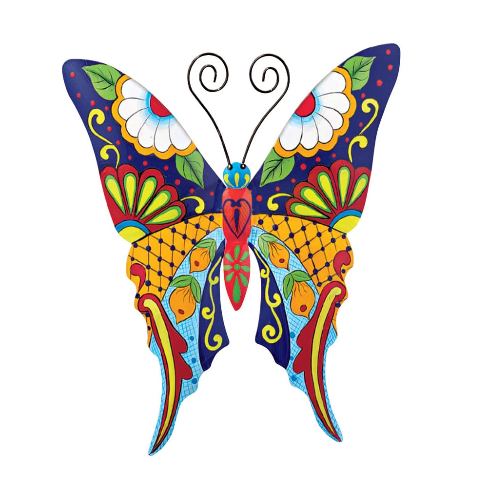 Charmant Colorful Metal Mexican Talavera Style Garden Wall Art, Butterfly    Walmart.com