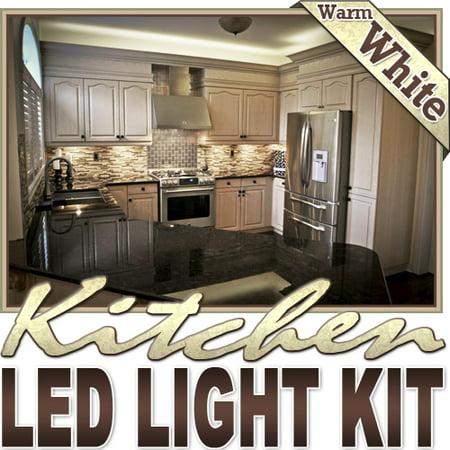- Biltek 6' ft Warm White Kitchen Pantry Wine Rack LED Strip Lighting Complete Package Kit Lamp Light DIY - Under Counters Microwave Glass Cabinets Floor Waterproof Flexible DIY 110V-220V