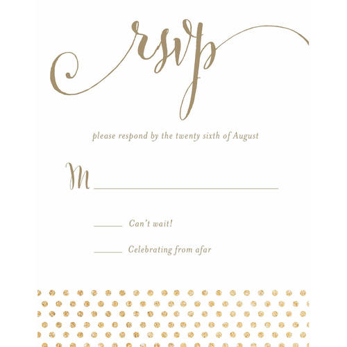 She Said Yes Standard RSVP