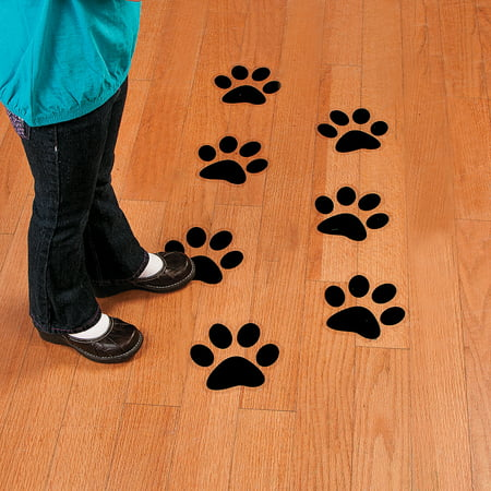 Paw Print Decals (Fun Express - Paw Print Floor Decals - Party Decor - General Decor - Floor Clings - 12)