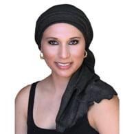 TurbanDiva Designs 78-61 Jersey Turban Set -Black Gold