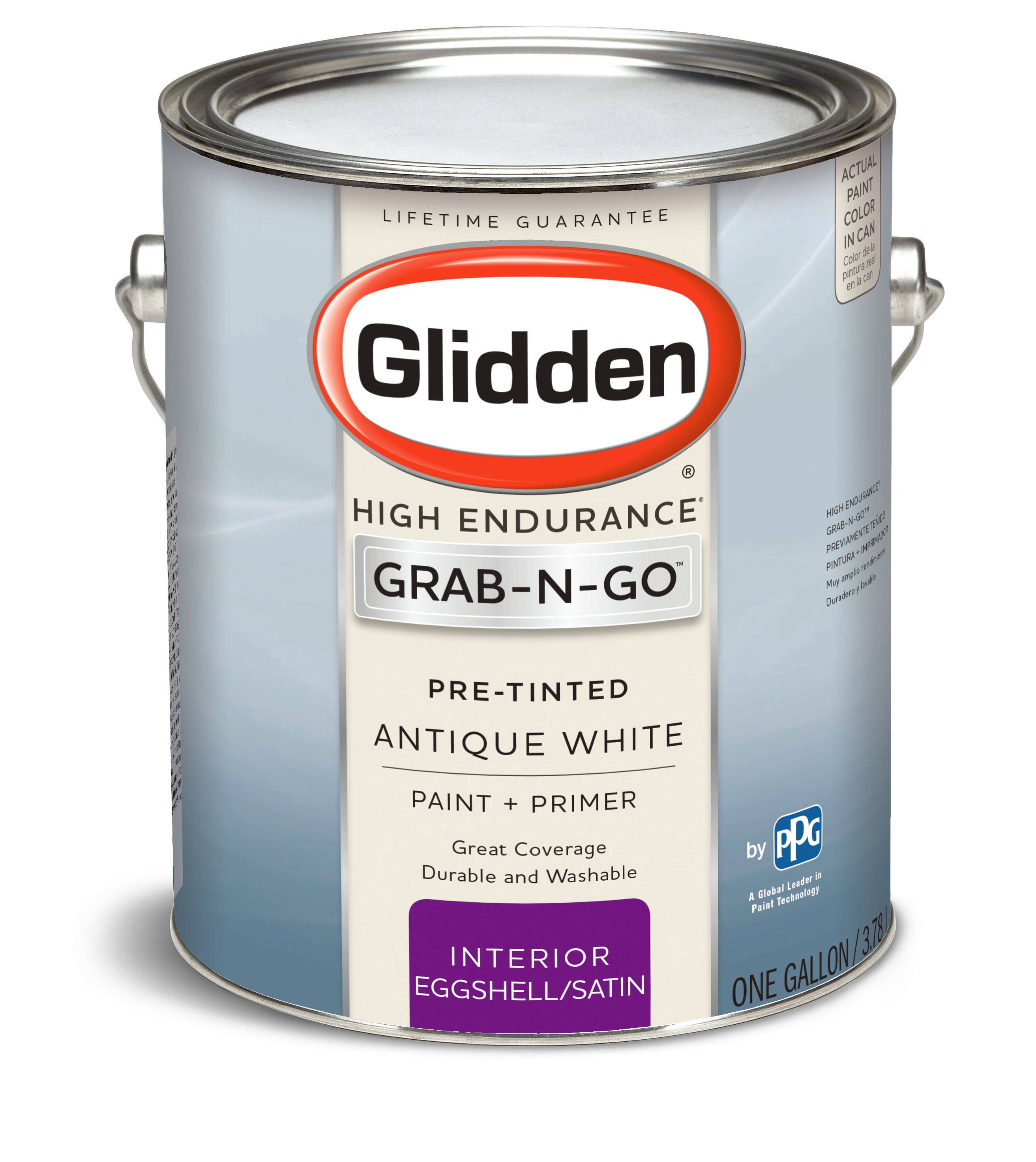 Glidden Pre Mixed Ready To Use, Interior Paint and Primer, Antique White, Eggshell Finish