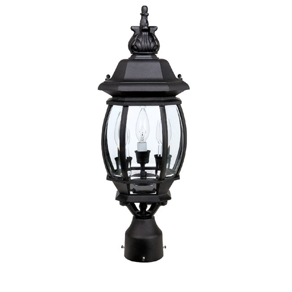 Capital Lighting French Country Black 3 Lamp Post Lantern by Capital Lighting