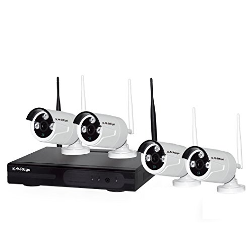 KI Furniture KAREye 4CH Channel NVR Wireless IP Network C...