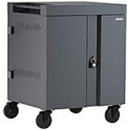 Bretford CUBE Cart 36, AC Charging, Charcoal Paint - 2 Shelf - 4 (Bretford Multimedia)
