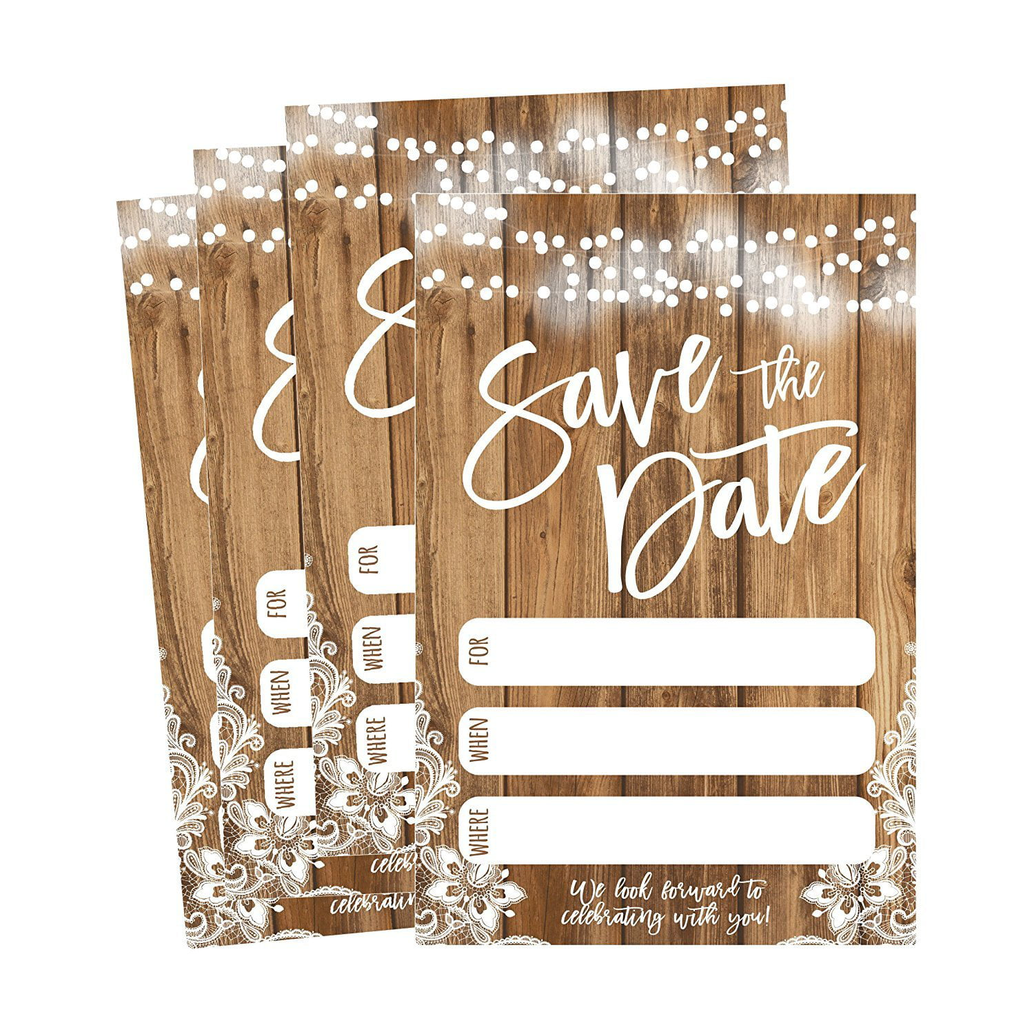 50 Rustic Save The Date Cards For Wedding, Engagement