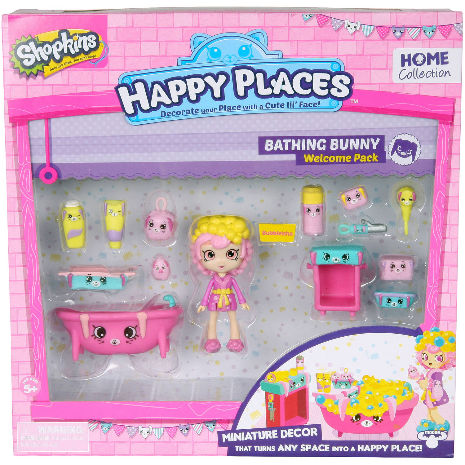 Shopkins Happy Places Welcome Pack, Bunny Bathroom
