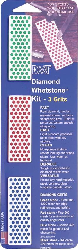 DMT W7EFC Diamond Whetstone Mini Diamond Stone Coarse   Fine   Extra-Fine Multi-Colored by DMT