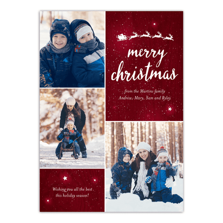 Christmas Cards Cheap (Twinkling Stars - 5x7 Personalized Christmas)
