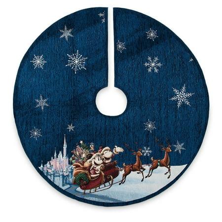 Disney Parks Christmas Minnie and Mickey Sleigh Holiday Cheer Tree Skirt New Tag ()