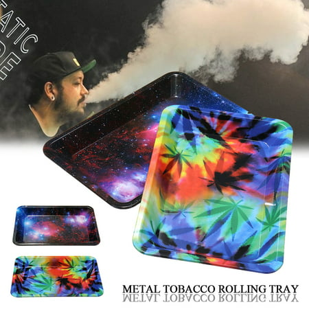 Mini Metal Tobacco Rolling Tray Cigarette 18cm*12.5cm / 7X4.9 inch Smoking Holder Trays