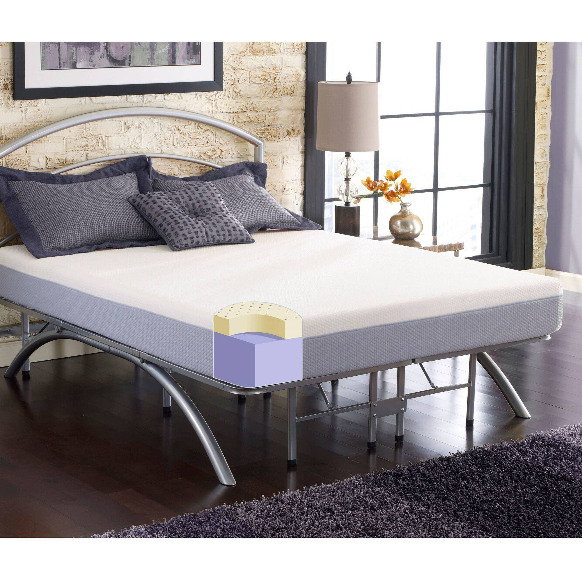 "Contura I 8"" Medium Firm Plush Cool Flex Memory Foam Mattress Bed In Box, Multiple Sizes"