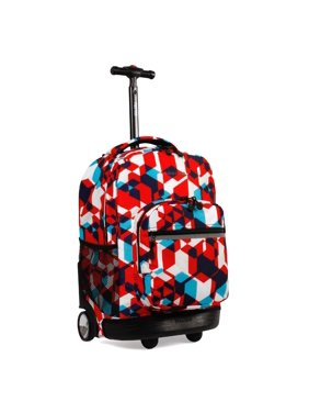 J World Sunrise Rolling Backpack, Aloha