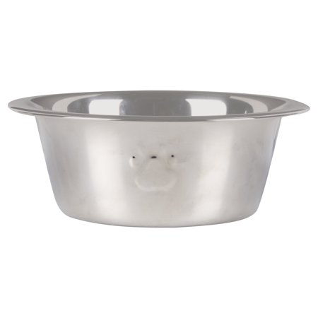 Vibrant Life Stainless Steel Dog Bowl with Paws, Small