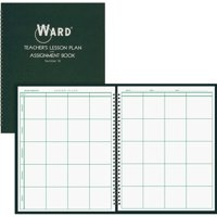 Ward Teacher's 8-period Lesson Plan Book, White, Dark Green