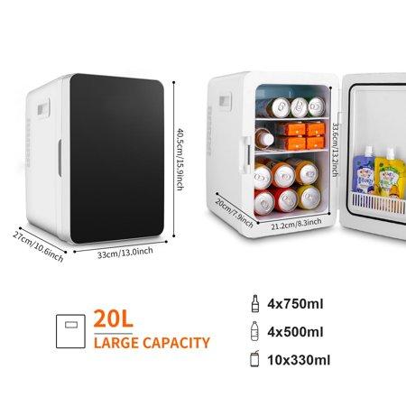 Generic Refrigerator 20L Large Capacity Fridge Freezer, [Low Noise] [Cooler and Warmer] Energy Star Single Door Mini RefrigeratorOnli
