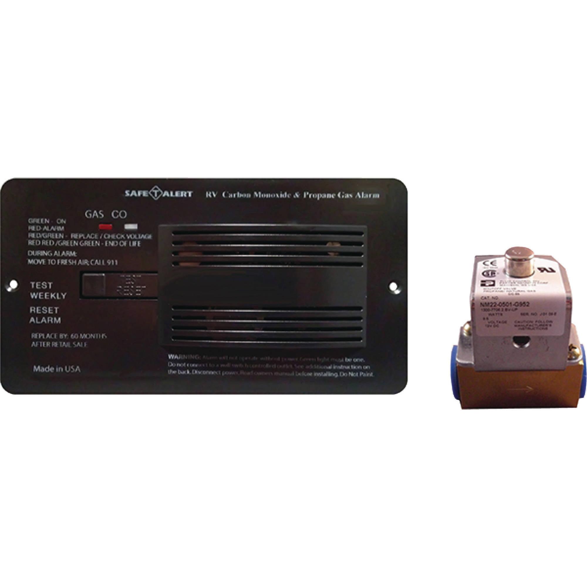 MTI Industries 12V 70 Series Safe-T-Alert Dual Propane/LP & Carbon Monoxide Alarm with Valve Control Kit