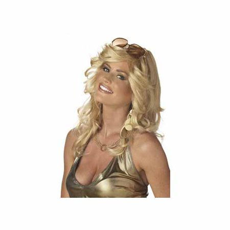 Blonde Discorama Mama Wig Adult Halloween - Blonde Wig With Bangs