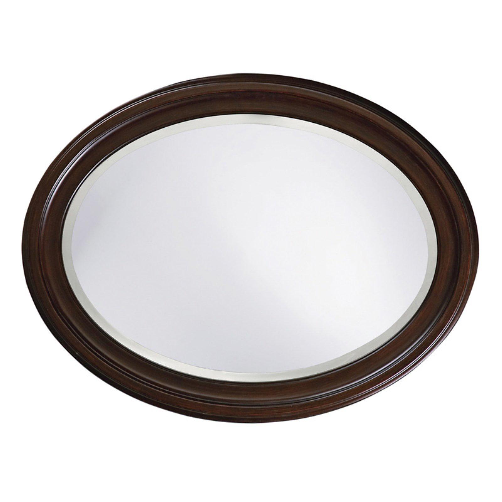 Belham Living Oval Wall Mirror Brown 25W x 33H in. by Howard Elliott