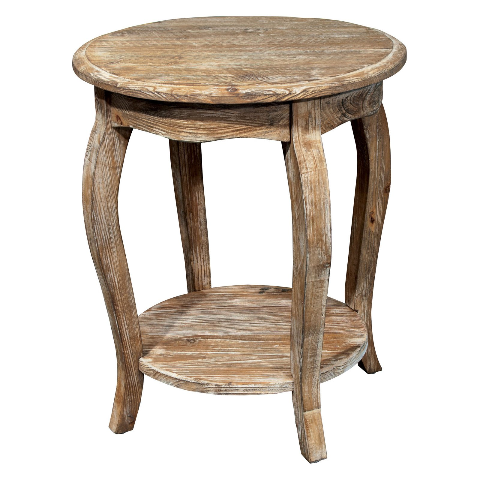 Delicieux Rustic Reclaimed Round End Table, Driftwood   Walmart.com