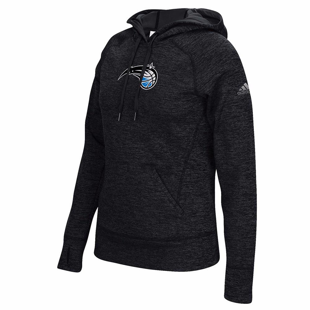 "Orlando Magic NBA Adidas Black Team Issue Climawarm Performance Pullover Team Logo 6"" Hoodie For Women (2XL)"