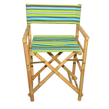 Bamboo54 Folding Bamboo Low Directors Chair With Canvas