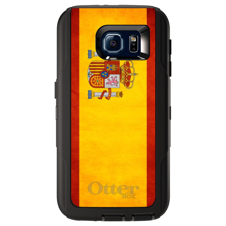 DistinctInk Custom Black OtterBox Defender Series Case for Samsung Galaxy S6...