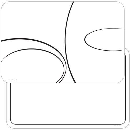 4 Simple Lines Reversible Washable Plastic Placemats