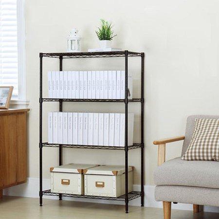 Ktaxon Black 4-Tier Storage Rack Organizer Kitchen Shelving Steel Wire  Shelves