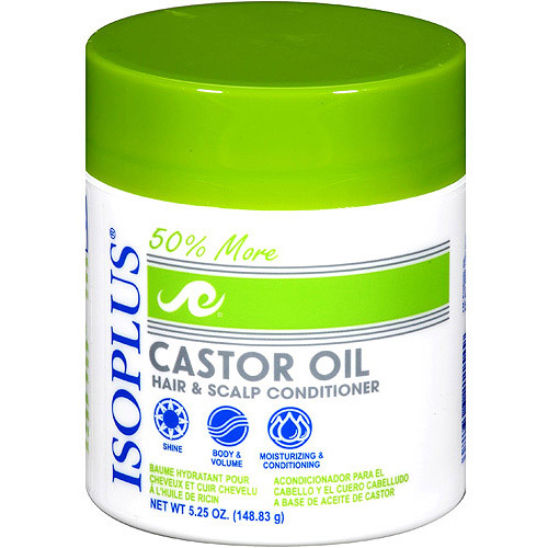 ISOPLUS Castor Oil Hair and Scalp Conditioner, 5.25 oz