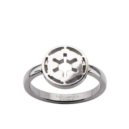 Star Wars Imperial Symbol Women's Silver Ring](Star Wars Plastic Rings)