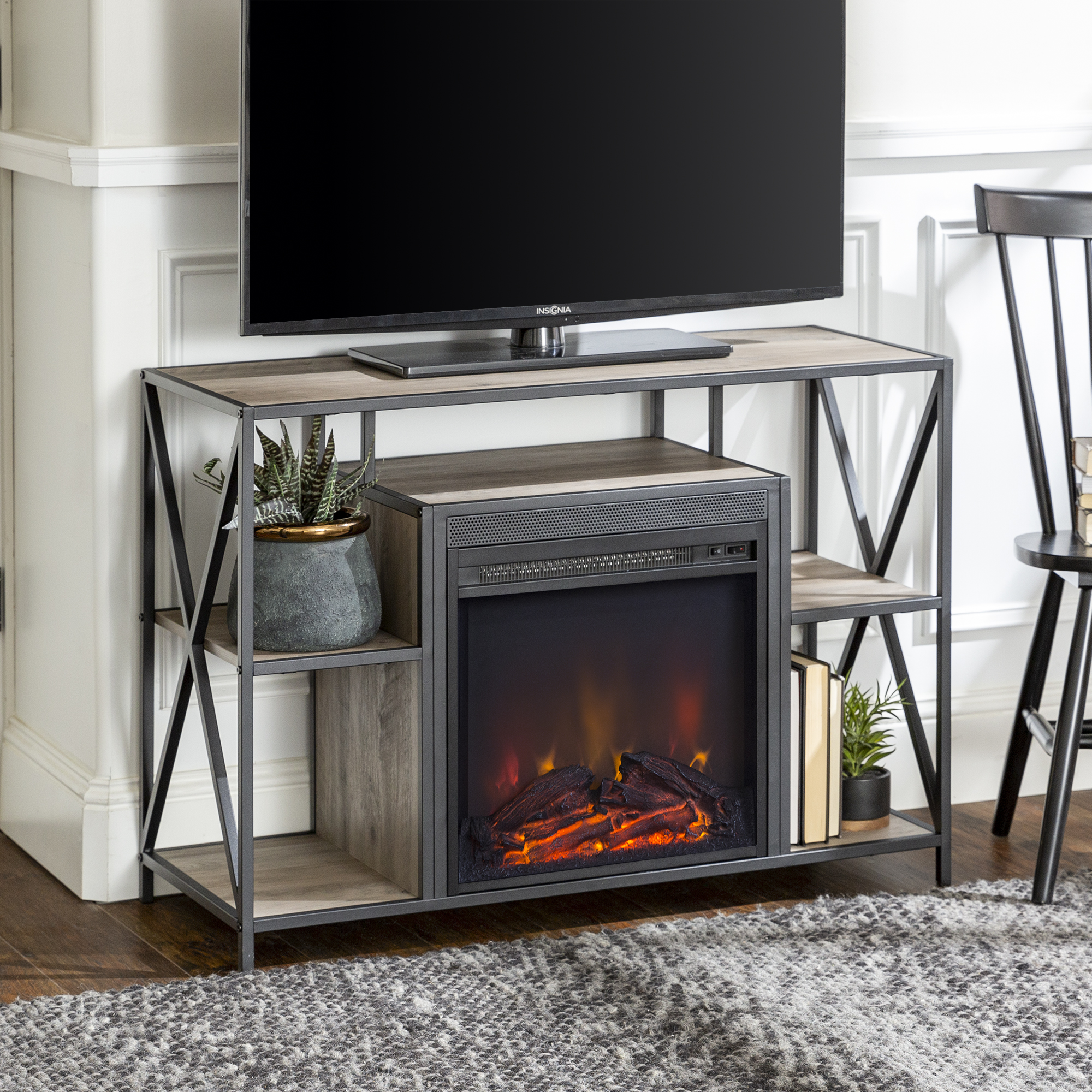 Nash Fireplace TV Stand by River Street Designs