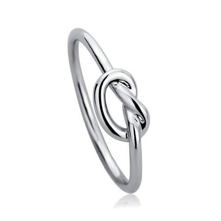 Men Women 14K White Gold Wedding Ring Plain Gold Celtic Love Knot Promise Ring - Wedding Knot