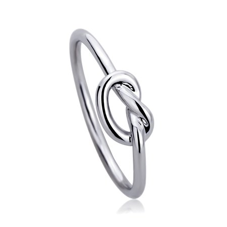 14K White Gold Wedding Ring Plain Gold Celtic Love Knot Promise Ring White Gold Celtic Love Knots