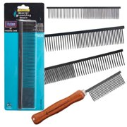 """Master Grooming Tools Xylan Combs — Coated Combs for Grooming Dogs - Face/Finishing, 4½"""""""