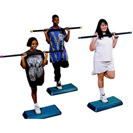 Sportime Aerobic Workout Bar 1 75 X 49 18 Pounds Red