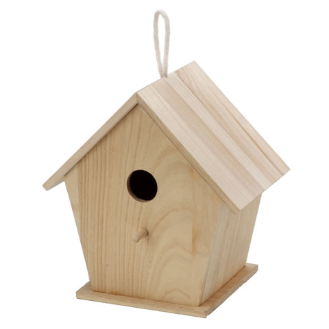 Unfinished Wood Birdhouse: 9 x 6 x 9.5 inches by Darice