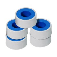 5 pack PTFE Tape Seal Threads for Plumbers, White 1/2 Inch x 260 Inch